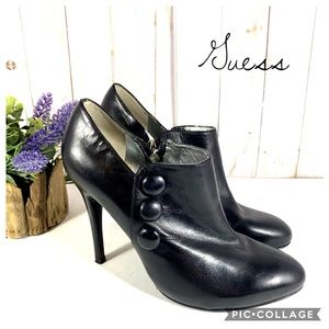 Guess by Marciano black leather booties 7.5